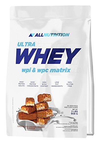 ALLNUTRITION Whey Ultra Protein Eiweiß Molkenprotein Bodybuilding (908g Choco Caramel Nut- Schoko Karamell Nuss)