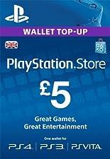 PlayStation PSN Card 5 GBP Wallet Top Up [PSN Download Code - UK account]