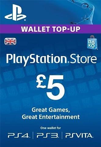 PlayStation PSN Card 5 GBP Wallet Top Up [PSN Download
