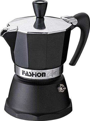 GAT Italy Fashion - Cafetera Italiana para café con 9 Tazas, Aluminio, Negro, 12 x 18 x 23 cm