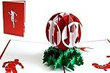LIN 17549 - POP - UP 3D Karten Fußball, Fußball Einladung Party, 3D Fußball Karte Bayern, Köln, Nürnberg, Mainz - Fußball Geburtstagskarte, N305