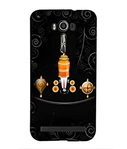 For Asus Zenfone 2 Laser ZE550KL (5.5 Inches) -Livingfill- Shri Lord Tirupati Balaji Printed Designer Slim Light Weight Cover Case For Asus Zenfone 2 Laser ZE550KL (5.5 Inches) (A Beautiful One of the Best Design with a Classic Theme & A Stylish, Trendy and Premium Appeal/Quality) (Red & Green & Black & Yellow & Other)