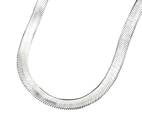 Billig Lila Modeschmuck (Kangqifen Schmuck Damen Herren Halskette Golden/Silber Kette Schlangenkette,Breite 1 cm,Länge 75)