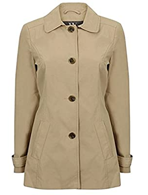 Ex BHS Womens Single Breasted Lightweight Raincoat