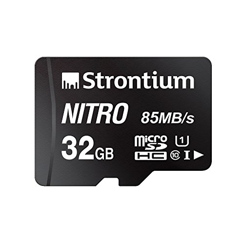 Strontium Nitro 32GB Micro SDHC Memory Card 85MB/s UHS-I U1 Class 10 High Speed for Smartphones Tablets Drones Action Cams (SRN32GTFU1QR)