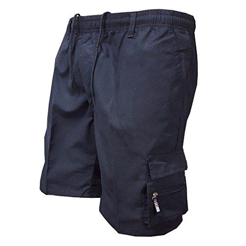 Estate Pantaloni Corti per Uomo Lavoro Casuale Pantaloncini con Coulisse Moda a Vita Media Loose Fit Tacksuit Pantaloni Shorts Abbigliamento...