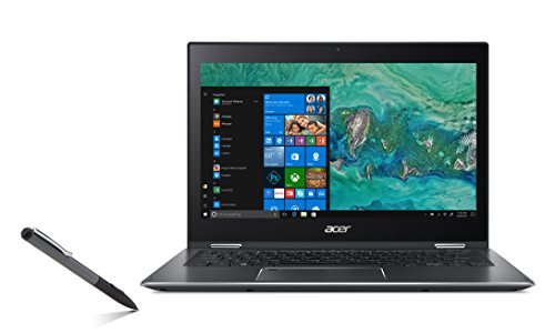 "Foto Acer Spin 5 SP513-52N-55NV Notebook con Processore Intel Core i5-8250U, RAM 8 GB DDR4, 256 GB SSD, Windows 10 Home, 13.3"" Multi-touch FHD IPS LCD, Grigio"