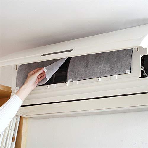 Danigrefinb Klimaanlagenfilter, 2 Stück, zugeschnitten, für Staubschutz-Klimaanlage, Filterpapier zur Reinigung von PET, 2 Stück