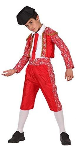 Kind Kostüm Matador - Fancy Me Jungen roten spanisch Bulle Kämpfer Matador aus Aller Welt Kostüm Kleid Outfit 3-12 Jahre - Rot, Rot, 10-12 Years