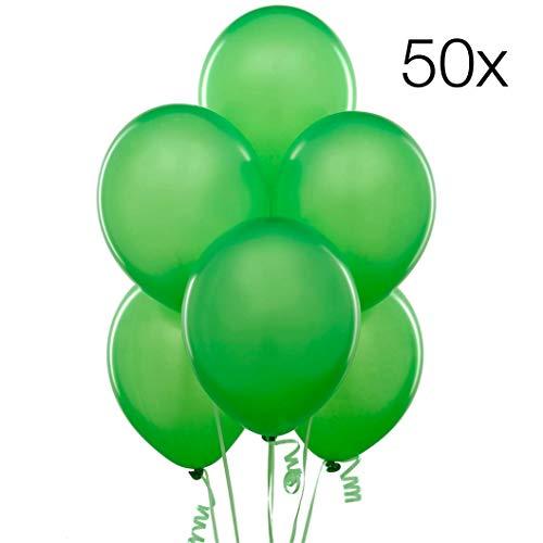 TK Gruppe Timo Klingler 50x Luftballons Ø 35 cm Luftballons Luftballon Ballons Balloons Ballon grün Latexballons für Helium und Luft, Geburtstag & Hochzeit (grün) (Grüne Geburtstag Ballons)