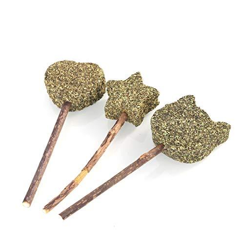 t Treats Ball Stick Katzenminze Lollipop Pet Spielzeug, Katzenzahnreinigung Snack Stick Dental Chews Zahnreinigung für gesunde Interaktive Lustige Ballspielspielzeug ()