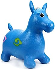 Tickles Blue Horse Hopper, (Inflatable Space Hopper, Jumping Horse, Ride-on Bouncy Animal) 57 cm