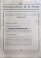 SOMMAIRE ÔÇô CALENDRIER DE LA PROFESSION ÔÇô PROBLEMES DÔÇÖACTUALITE DE LA PRESSE ÔÇô DERNIER BILAN DE LA COMMISSION NATIONALE DE LA COMMUNICATION ET DES LIBERTES ÔÇô M SERGE CHARLES DEPUTE R P R DU NORD VIENT DE DEPOSER UNE PROPOSITION DE LOI VISANT...