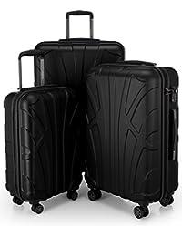 SUITLINE - Valise en 4 tailles: 55, 66, 76, 85 cm, bagage à main, Trolley TSA, ABS