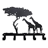 YOURNELO Cute Ironwork Cartoon Characters Animals Art Wall Mounted Decorative Coat Rack Hooks