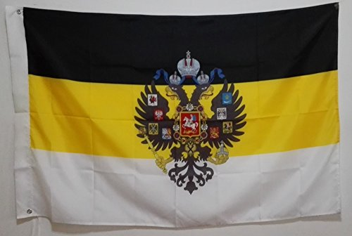 FunnyToday365 Imperial Flagge Russische Empire Eagle Köpfe God Flagge Waren 3 x 5 ft 150 x 90 cm Banner Messing Metall Löcher IR1 -