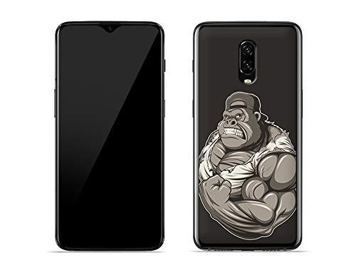 etuo OnePlus 6T - Hülle Fantastic Case - Muskulöser Gorilla - Handyhülle Schutzhülle Etui Case Cover Tasche für Handy