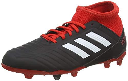 adidas Predator 18.3 FG J, Zapatillas de Fútbol Unisex Niños, Negro (Schwarz/Rot/Weiß Schwarz/Rot/Weiß), 38 EU