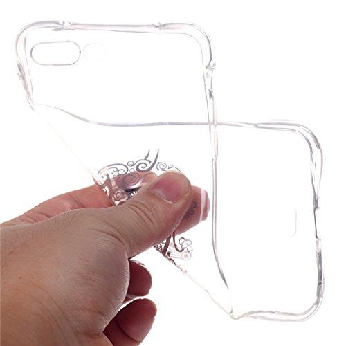 iPhone 7 Plus / 8 Plus Hülle, SATURCASE Schönes Muster Bronzen Ultra Dünn Weich TPU Gel Silikon Schützend Zurück Case Cover Handy Tasche Schutzhülle Handyhülle Hülle für Apple iPhone 7 Plus / 8 Plus 5 Muster-6