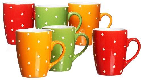 ritzenhoff-und-breker-736977-juego-de-tazas-de-cafe-6-unidades-diseno-de-lunares-color-rojo-verde-y-