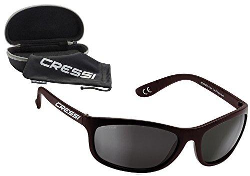 d1ca2d4273 Cressi Rocker Gafas de Sol, Unisex Adulto, Negro Brillante/Lente Gris, Talla