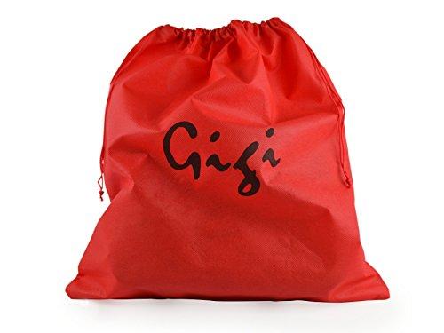 Gigi-Pochette da donna, in pelle morbida fodera polivalente Rosso (rosso)