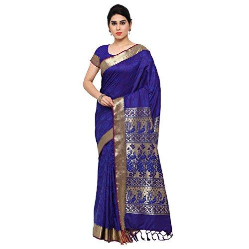 Florence Woven, Printed Partywear Bollywood Kanjivaram Art Silk, Jacquard Saree