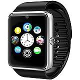 Time4Deals® GT08 Salud inteligentes NFC y Bluetooth Smart Watch pulsera con ranura para tarjeta SIM reloj Smartphone Android y IOS Apple Iphone - Plata