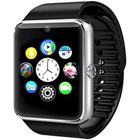 Time4Deals® GT08 Salud inteligentes NFC y Bluetooth Smart Watch pulsera con ranura para tarjeta SIM reloj Smartphone Android y IOS Apple Iphone -