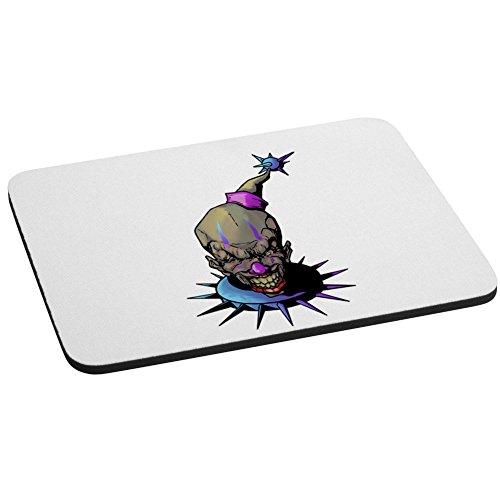 Violett und Blau Fun, beängstigend, und Evil Clown Computer Maus Pad (Maus Beängstigend)