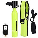 Alomejor Sauerstoff Tauchflaschen + Hydropneumatischem Adapter + Atemschutzbeutel Tragbare Leichte...