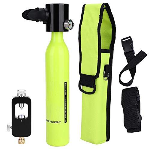 Alomejor Sauerstoff Tauchflaschen + Hydropneumatischem Adapter + Atemschutzbeutel Tragbare Leichte Tauchausrüstung -