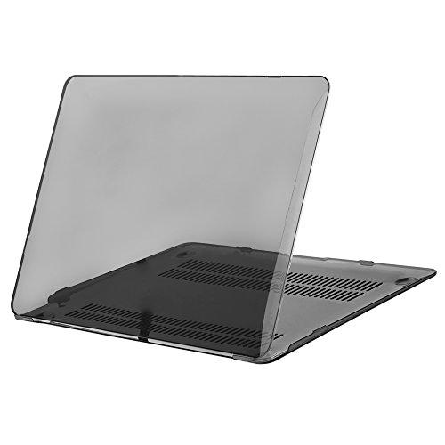 MOSISO ultra sottile in plastica dura Shell Snap On Case Cover per MacBook 12 pollici A1534 con display Retina, cristallo jet nero