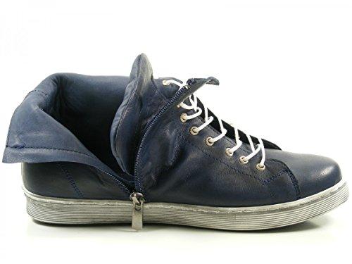 Andrea Conti 0341500 Schuhe Damen Boots Halbschuhe Sneaker High Top Blau