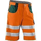 Kübler 23078340-3765-62 Shorts Reflectiq PSA 2, Warnorange/moosgrün, Größe 62