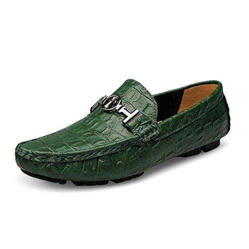 2018 Neue Herren Leder Casual Loafers Mokassins Slip on Driving Schuhe Formale Business-Arbeit für Casual Office & Karriere im Freien (Farbe : E, Größe : 49) (Loafer Leder-leichte)