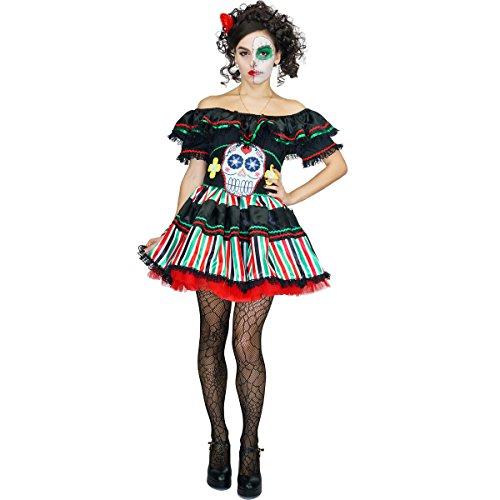 SEA HARE Womens Tag der Toten Senorita verkleidete