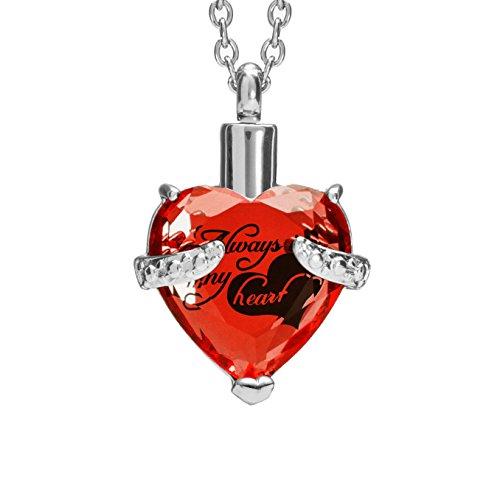 skette für Asche mit Schöne Geschenk-Box Urne Anhänger Memorial Andenken Verbrennung Jewelry (lila) ()