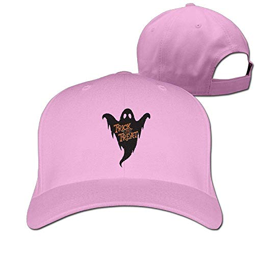 Classic Cotton Hat Adjustable Plain Cap, Ghost Trick Treat Plain Baseball Cap Adjustable Size Curved Visor Hat 399