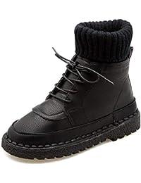 Botas de Invierno de Las Mujeres con Cordones Botas de Nieve Caliente Altos Zapatos de la