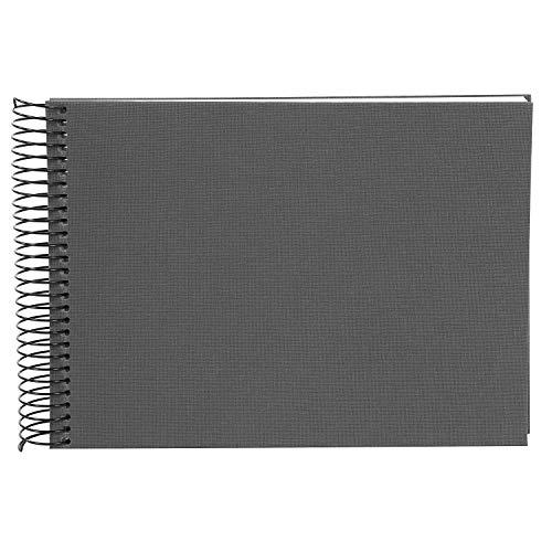 Goldbuch Spiralalbum, Bella Vista, 24x17 cm, 40 weiße Seiten, Leinen, Grau, 20 725