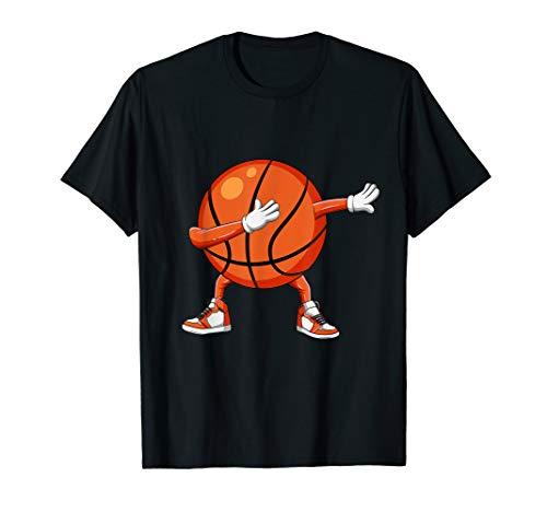 Funny Dabbing Basketball Ball T Shirts Boy Girl Adults Gift