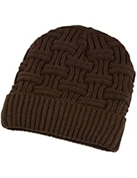 Kangcheng Hombre Invierno Cálido Tejer Baggy Slouchy Beanie Hat Cap 59443d41a20