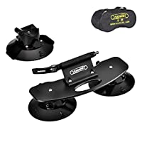 Rassine Suction Cup Bike Rack for Car Roof Top Sucker Bike Rack Quick Release Aluminium Alloy Bike Carrier with Sucker for Car