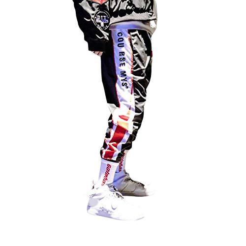 Irypulse Pantaloni da Jogging Uomo Sportivi Casual, Pantalone Moda da Strada per Adolescenti e Giovani Ragazzi, Tuta da Ginnastica Sciolto Stile Hip Hop Strisce Laterali - Design Originale