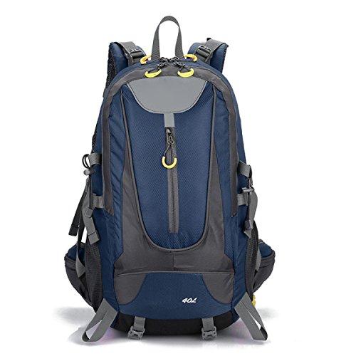 Zaino Zaino Escursionismo Alpinismo All'aperto Viaggiare Casual Daypack Borse Ad Alta Capacità,Black DarkBlue