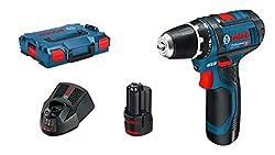 Bosch Professional Akkuschrauber GSR 12V-15 (2x 2,0 Ah Akku, 12 Volt, Schrauben-Ø max: 7 mm, in L-BOXX)