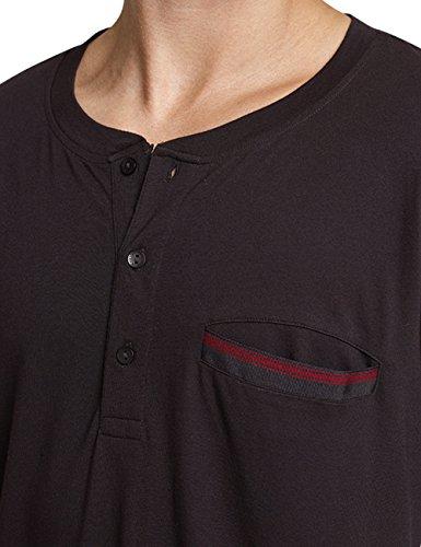 Schiesser Herren Zweiteiliger Schlafanzug Anzug Lang Schwarz (Espresso 004)