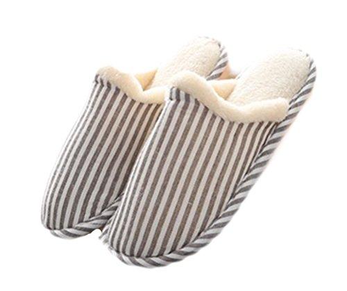 Pantofole Cominciando Scarpe Antiscivolo Design Letto Buon Auspicio Skid Dintérieur Molli Basse Inverno Caffè Da Strisce Il Caldo Unisex p4t4R1