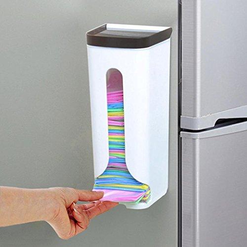 LCLrute Kunststoff Aufbewahrungsbox Organizer Müllsäcke Sammlung Box (Weiß) (Tasche Lebensmittelgeschäft-stil)